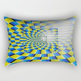 Radial Structure by Anya Campbell Rectangular Pillow
