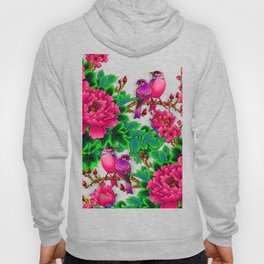 Wonderful Birds on Branches Wind flowers Hoody