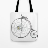 bicycle Tote Bags featuring Bicycle by Michelle Krasny