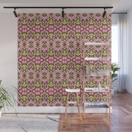 Delicate Floral Stripes Wall Mural