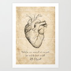 Heart Quote By Zelda Fitzgerald Art Print
