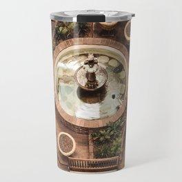 Courtyard Fountain Travel Mug