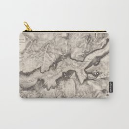 Vintage Map of Yosemite Valley (1870) Carry-All Pouch