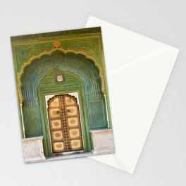 Green gate City Palace Jaipur, India Stationery Cards
