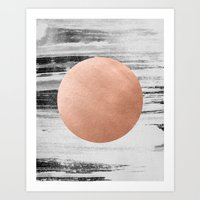 rose gold Art Prints featuring rose gold #1 by LEEMO
