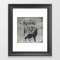 Born to be free Framed Art Print