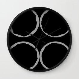 Grey Circles Circling A Midnight Circle Wall Clock