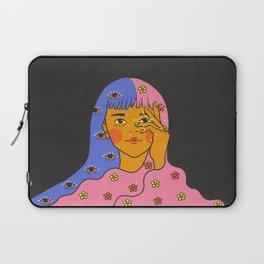 Eyes Stars Magic Hair Girl Laptop Sleeve