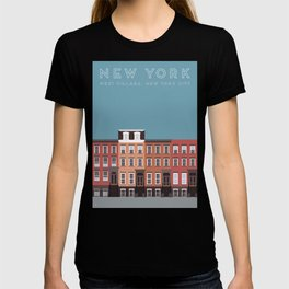 West Village, New York, NYC Travel Poster T-shirt