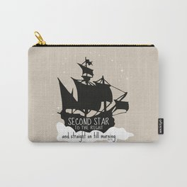 Second star to the right and straight on till morning - Peter Pan Inspired Art Print  Carry-All Pouch