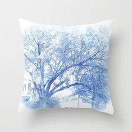 Carolina Blue Southern Oak   Throw Pillow
