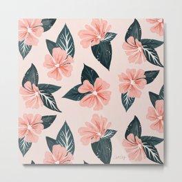 Mountain Wild Flowers – Blush & Sage Metal Print