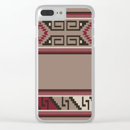 American Native Pattern No. 287 Clear iPhone Case