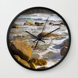 Rocky beach at Kogel Bay in South Africa Wall Clock