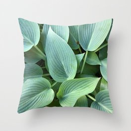 Perfect green leaves Throw Pillow