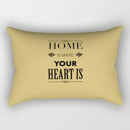 Home is Where - Typography brown Rectangular Pillow