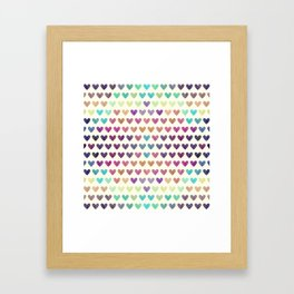 Colorful hearts III Framed Art Print