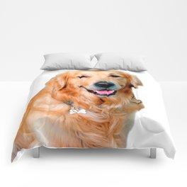 Beautiful Dog Golden Retriever and Your Bone Comforters