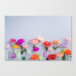Handmade paper flowers Canvas Print