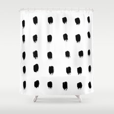 Jacques Pattern - Pure White Shower Curtain