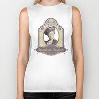 downton abbey Biker Tanks featuring Downton Abbey Inspired - Lady Violet - Grantham Institute - Lady Violet Finishing School by Traci Hayner Vanover