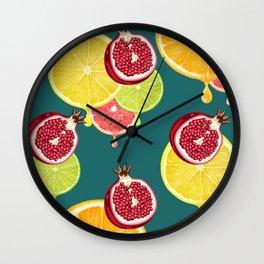 tropic fruit Wall Clock