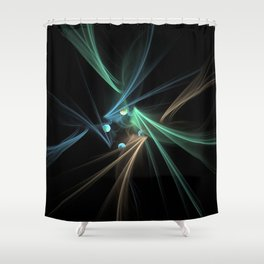 Fractal Convergence Shower Curtain