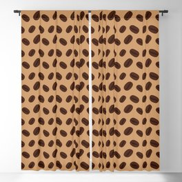 Cool Brown Coffee beans pattern Blackout Curtain