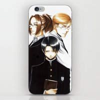 shingeki no kyojin iPhone & iPod Skins featuring OriSor Shingeki No Kyojin High School Fanart by Mistiqarts by Mistiqarts