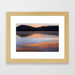 Out of the Depths (Sunrise on Lake George) Framed Art Print