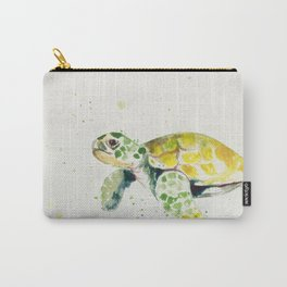 turtle watercolor art Carry-All Pouch