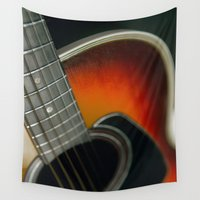 guitar Wall Tapestries featuring Guitar by Bruce Stanfield