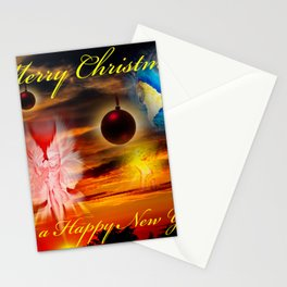 Merry Christmas - Happy New Year  Stationery Cards