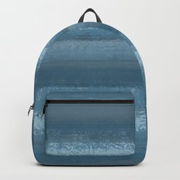 Blue gray abstract texture Backpack
