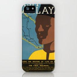 Vintage poster - Malaya iPhone Case