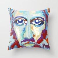 jesus Throw Pillows featuring Jesus  by melissa lyons