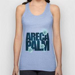 Areca Palm Zinnia Border Print Unisex Tank Top