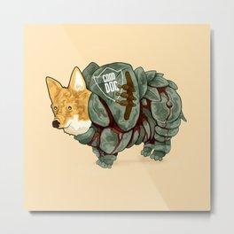 Good Dog! w/ Battle Armor by Devon Baker Metal Print