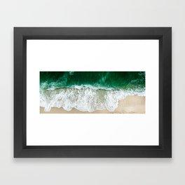 miami beach aerial view Framed Art Print