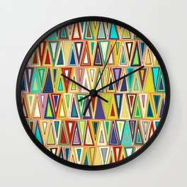 tangerine triangles Wall Clock