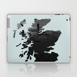 'Wandering' Scotland map Laptop & iPad Skin