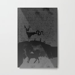 deer forest Metal Print