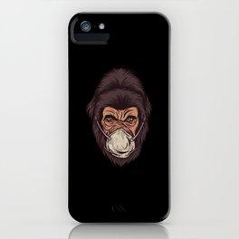 Gorilla Face Mask iPhone Case