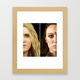 Clexa portraits Framed Art Print