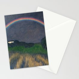 Rainbow at Twilight, Wheat Fields, Auvers-sur-Oise, Frances by Franx von Struck Stationery Cards