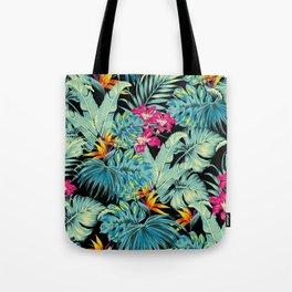 Tropical Greenery Island Dreams Tote Bag