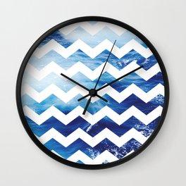 Ocean Chevon Wall Clock