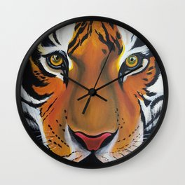 Tiger, acrylic on canvas Wall Clock