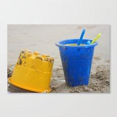 sand buckets Canvas Print