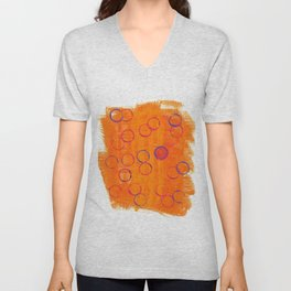 Playful Tangerine Unisex V-Neck